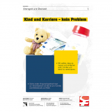 Flyer Kind und Karriere – kein Problem