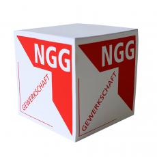 NGG Zettelblock mit NGG-Logo