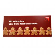 Weihnachtskarte Keksmännchen