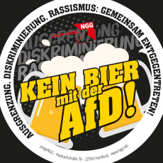 """Bierdeckel: """"Kein Bier mit der AfD"""" (Set mit 300 Stück)"""