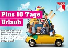 Postkarte Plus 10 Tage Urlaub
