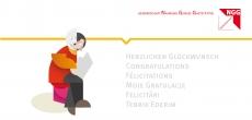 Glückwunschkarte Vorleser Illustration