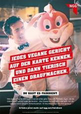 #fairdient-Plakat tierisch drauf