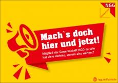 NGG-Postkarte Hier und jetzt