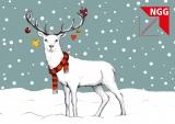 Weihnachtskarte Hirsch