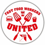 NGG-Aufkleber Fast Food Workers United