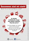 NGG-Flyer Fast Food Workers United (Deutsch)