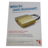 Plakat Willst du mehr Sicherheit?