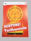 Plakat: Tarifbaustelle