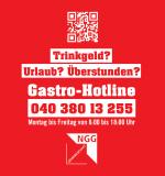 Aufkleber: Gastro-Hotline