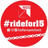Ridefor15 - Aufkleber rund